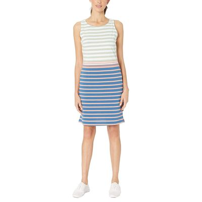 Columbia - Columbia Impulse Blue Multi Stripe Harborside Knit Sleeveless Dress