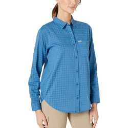 Columbia Impulse Blue Windowpane Pfg Sun Drifter™ Iı Long Sleeve Shirt - Thumbnail