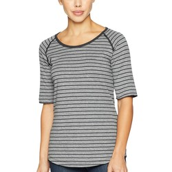 Columbia Light Grey Stripe Winter Adventure™ Short Sleeve Stripe Tee - Thumbnail