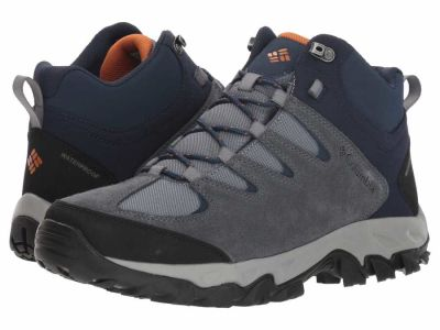Columbia - Columbia Men's Grey Ash Bright Copper Buxton Peak Mid Waterproof Hiking Sport Boots