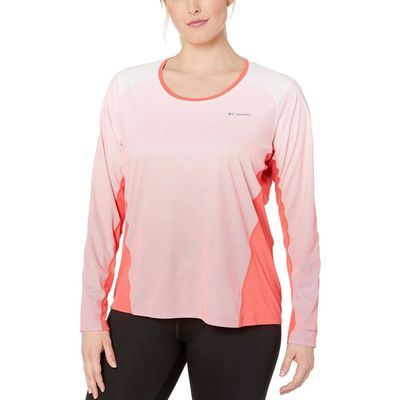 Columbia - Columbia Red Coral Plus Size Solar Chill™ 2.0 Long Sleeve Shirt
