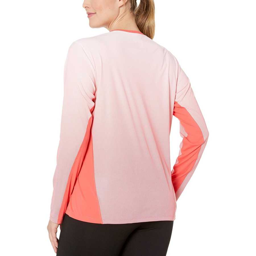 Columbia Red Coral Plus Size Solar Chill™ 2.0 Long Sleeve Shirt