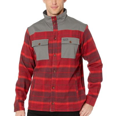 Columbia - Columbia Red Element Large Plaid Deschutes River™ Shirt Jacket