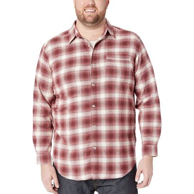 Columbia - Columbia Stone Pop Plaid Big & Tall Boulder Ridge Long Sleeve Flannel