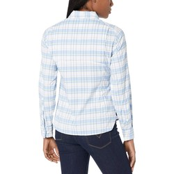 Columbia White Cap Small Plaid Silver Ridge Lite Plaid Long Sleeve Shirt - Thumbnail