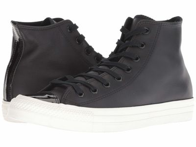 Converse - Converse Men Black/Black/Vintage White Chuck Taylor All Star Leather - Hi Lifestyle Sneakers