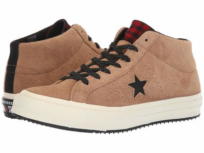 Converse - Converse Men Teak/Black/Egret One Star - Counter Climate Mid Lifestyle Sneakers