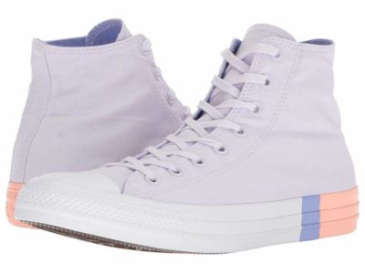 Converse - Converse Men's Barely Grape Twilight Pulse Pale Coral Chuck Taylor All Star Tri Block Midsole Hi Lifestyle Sneakers