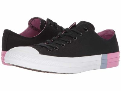 Converse - Converse Men's Black Light Orchid White Chuck Taylor All Star Tri Block Midsole Ox Lifestyle Sneakers