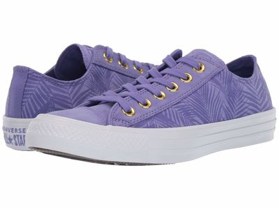 Converse - Converse Women Wild Lilac/Antique Brass/White Chuck Taylor All Star Summer Palms - Ox Lifestyle Sneakers