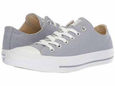 Converse - Converse Women's Glacier Grey White White Chuck Taylor All Star Ox - Perf Canvas Lifestyle Sneakers