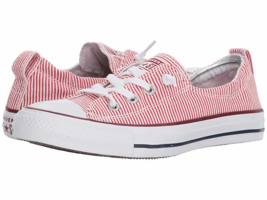 Converse Women s Gym Red White Chuck Taylor All Star Shoreline Lifestyle  Sneakers 77bf91882