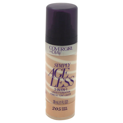 CoverGirl - CoverGirl + Olay Simply Ageless 3-in-1 Liquid Foundation - # 205 Ivory 1oz