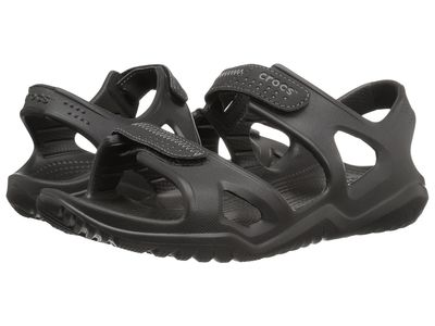 Crocs - Crocs Men Black/Black Swiftwater River Sandal Active Sandals