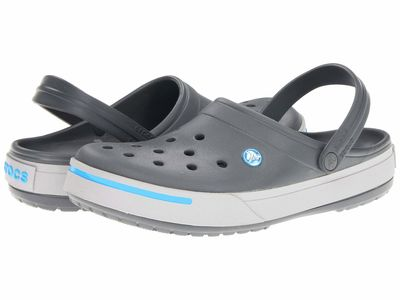 Crocs - Crocs Men Charcoal/Light Grey Crocband İi Clog Clogs Mules