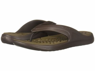 Crocs - Crocs Men Espresso/Walnut Reviva Flip Flip Flops