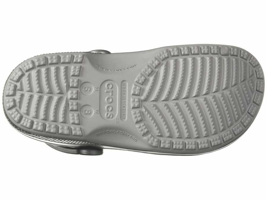 Crocs Men Gunmetal Classic Metallic Clog Clogs Mules