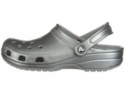 Crocs Men Gunmetal Classic Metallic Clog Clogs Mules - Thumbnail