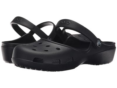 Crocs - Crocs Women Black Karin Clog Clogs Mules