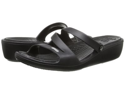Crocs - Crocs Women Black/Black Patricia Active Sandals