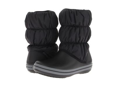 Crocs - Crocs Women Black/Charcoal Winter Puff Boot Rain Boots
