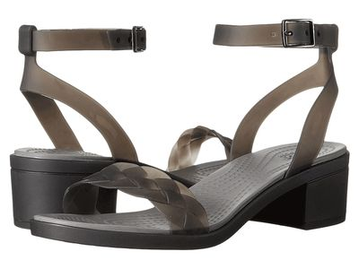Crocs - Crocs Women Black/Graphite İsabella Block Heel Heeled Sandals