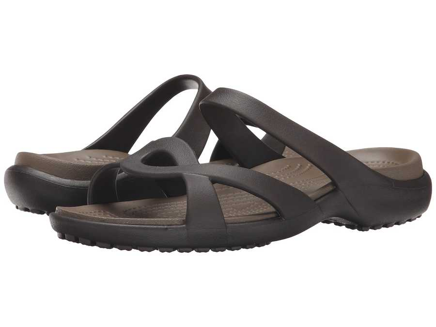 Crocs Women Espresso/Walnut Meleen Twist Sandal Active Sandals