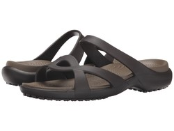 Crocs Women Espresso/Walnut Meleen Twist Sandal Active Sandals - Thumbnail