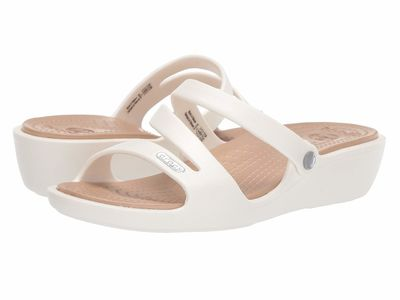 Crocs - Crocs Women Oyster/Gold Patricia Active Sandals
