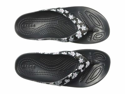 Crocs - Crocs Women Tropical Floral/Black Kadee İi Seasonal Flip Flip Flops