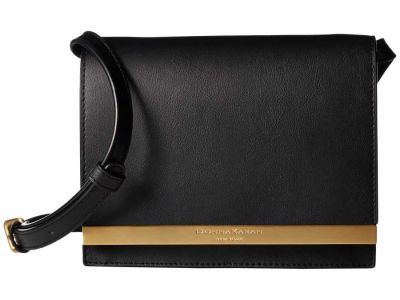 Donna Karan - Donna Karan Black Mally Flap Cross Body Bag