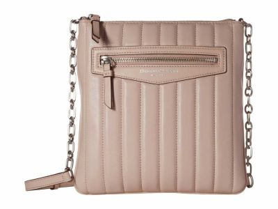Donna Karan - Donna Karan Ice Pink Erin North/South Top Zip Cross Body Bag