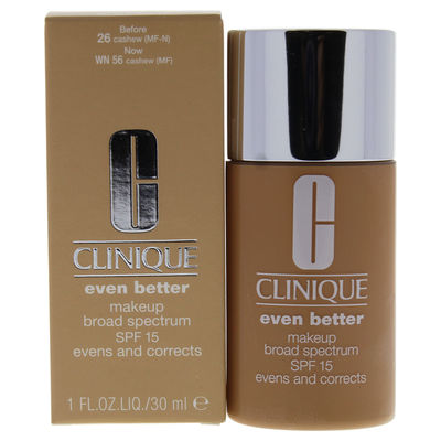 Clinique - Even Better Makeup SPF 15 - # 26 Cashew (MF-N) - Dry To Combination Oily Skin 1oz