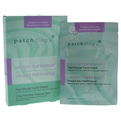 Patchology - Flashmasque 5 Minute Facial Sheets - Exfoliate 4Pc