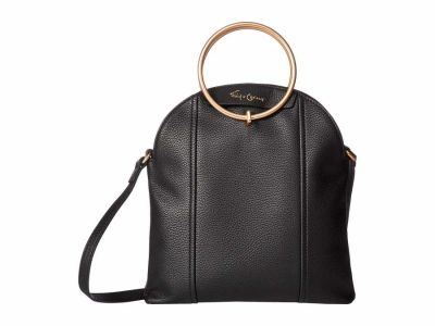 Foley & Corinna - Foley & Corinna Black Sol Opulance Double Ring Cross Body Bag
