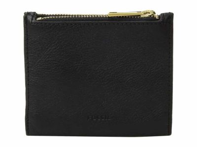 Fossil - Fossil Black Shelby Mini Multifunction Bifold Wallet