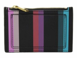 Fossil Blue Multi Stripe Shelby Zip Coin Coin Card Case - Thumbnail