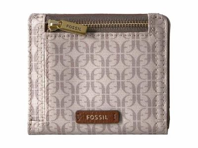 Fossil - Fossil Light Taupe Signature Logan Small Bifold Bi-Fold Wallet