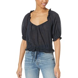 Free People Black Dorothy Top - Thumbnail