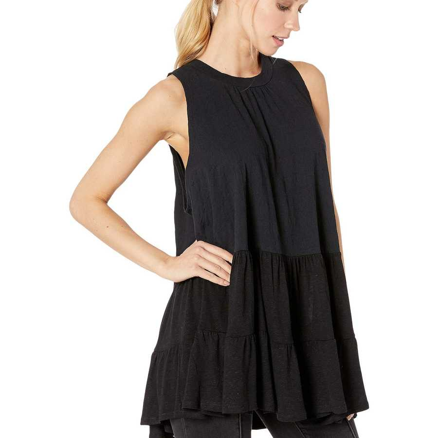 Free People Black Right On Time Tunic
