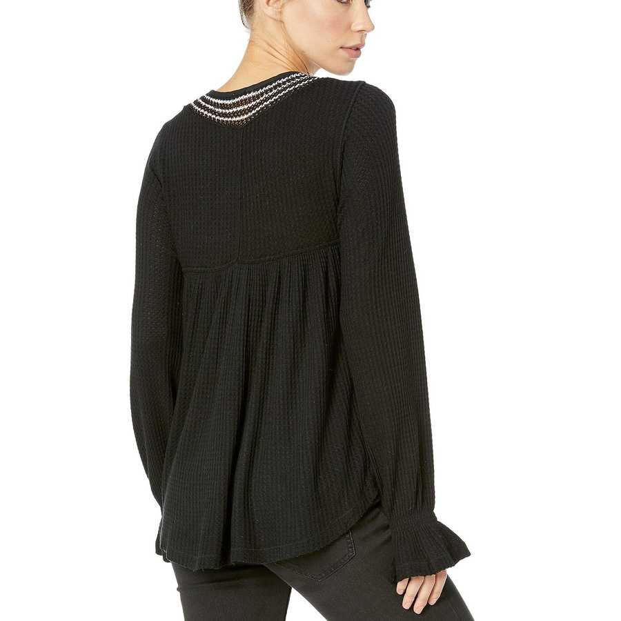 Free People Black Soul Mate Top