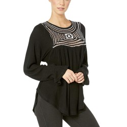 Free People Black Soul Mate Top - Thumbnail