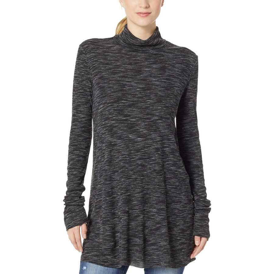 Free People Black Stonecold Long Sleeve Top
