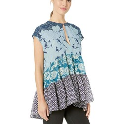 Free People Blue Gotta Have You Tunic - Thumbnail