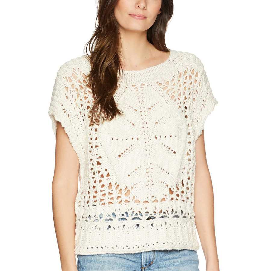 Free People Cream Diamond İn The Rough Sweater