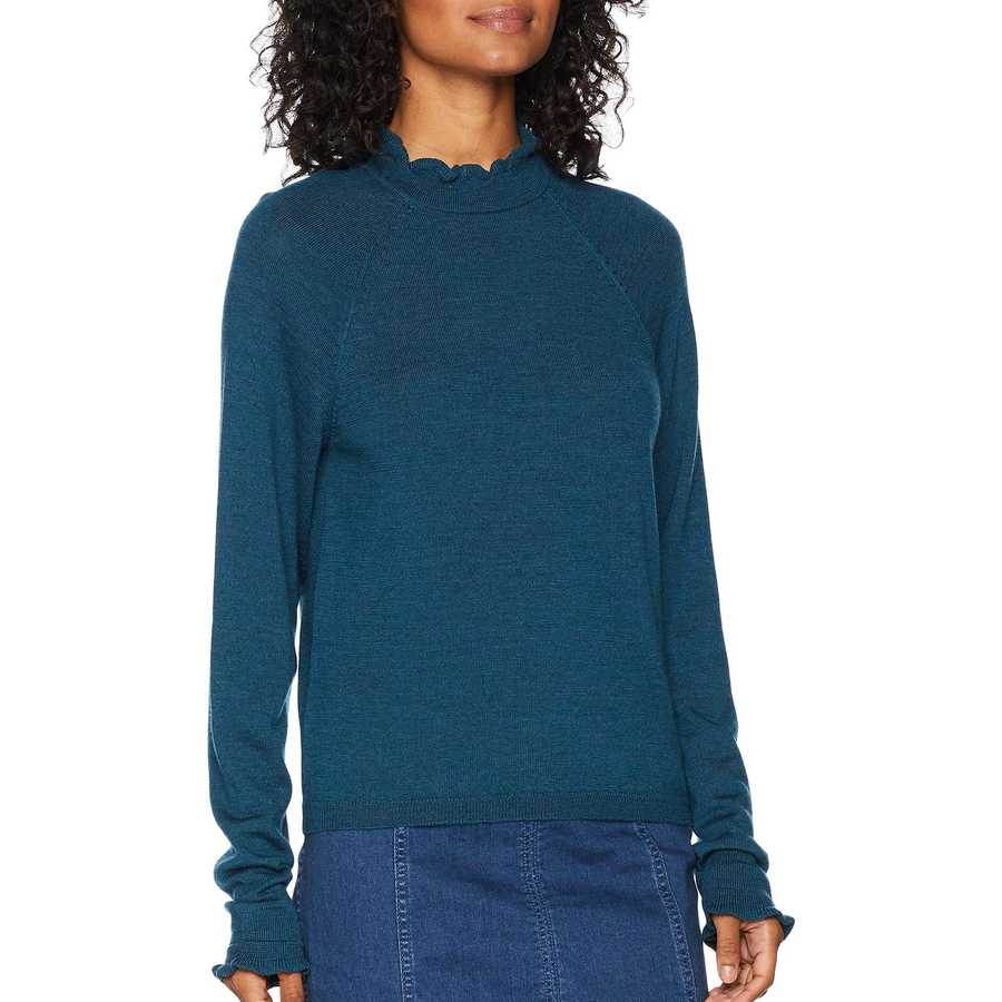 Free People Dark Turquoise Needle And Thread Pullover