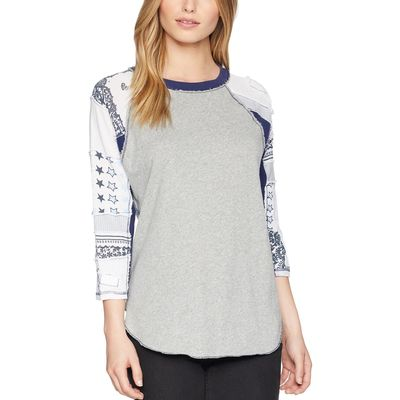 Free People - Free People Grey Bright Star Tee