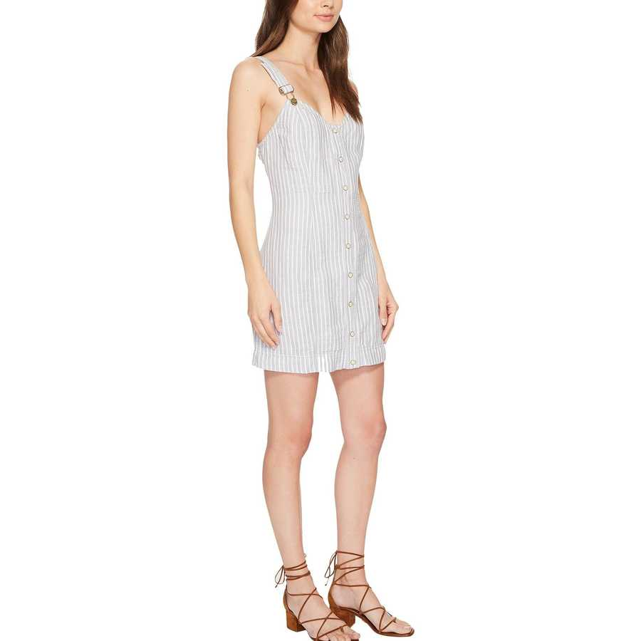 Free People Grey Combo Living Color Mini Dress