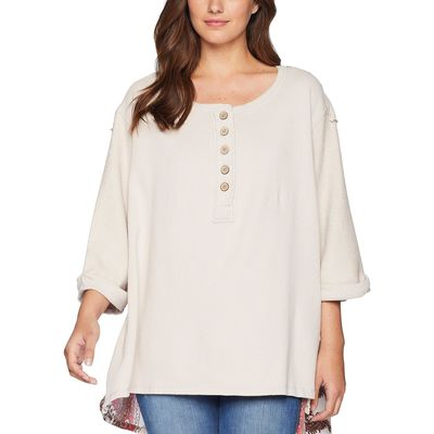 Free People Ivory Cool Baby Pullover