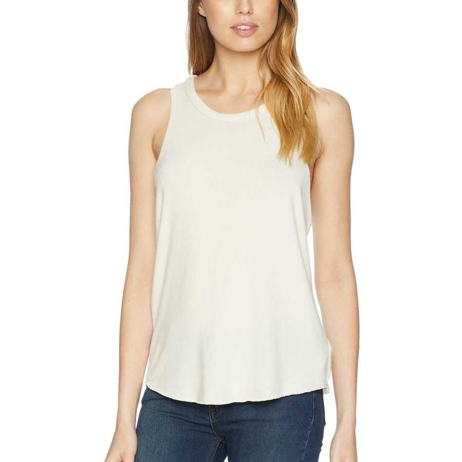 Free People Ivory Coziest Tank Top